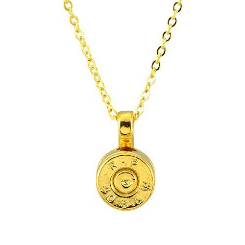 Southlife - Lizzy J's Bullet Shell Pendant Necklace, Gold Plated Round