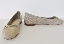 NIb Cole Haan Sarina Snake Embossed Leather Ballet Flat Shoes Sz 5.5 M Nude $179 - $89.05