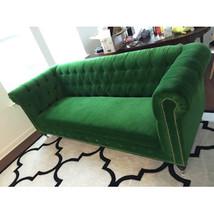 Anthropologie Lyre Chesterfield Replica Sofa  Green Velvet  - €1.425,03 EUR