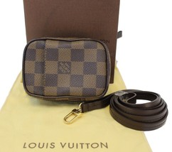 Authentic LOUIS VUITTON Damier Ebene Etui Okapi PM Pouch Bag TT1590 - $533.71