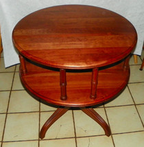 Solid Cherry 2 Tier Lamp Table / Parlor Table by Pennsylvania House - $499.00