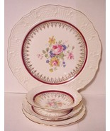 Canonsburg Pottery 4 piece Place Setting w/Gold... - $29.65