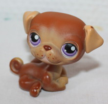 Littlest Pet Shop 133 Pug Puppy Dog Brown with Purple Eyes LPS - $3.95