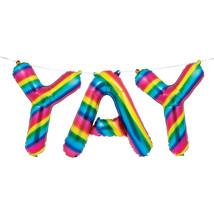 """Rainbow Foil 16"""" x 5' """"YAY"""" Balloon Banner, Case of 36 - €72,18 EUR"""