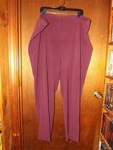 Lane Bryant Burgundy Dress Pants - New - 28 Regular - $23.74