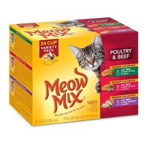 Meow Mix Tender Favorites Poultry and Beef Variety Pack Wet Cat Food, 2.... - $15.15