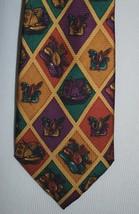 Giorgio Armani Cravatte Men's Necktie Tie - Italy - Purple Gold Lute Art... - $49.49