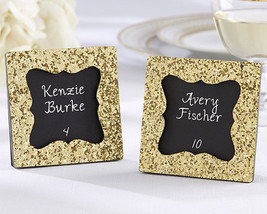 1 All That Glitters Gold Wedding Photo Picture Frame Place Card Holder F... - $2.95
