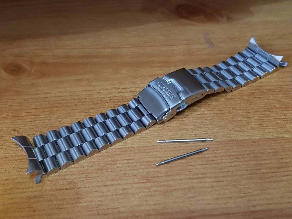 22mm Seiko gents watch stainless steel bracelet with curve lugs end pieces( FAST