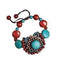 Agate Bracelet Retro Chinese Style Ethnic Handmade Bracelets Woven Jewelry