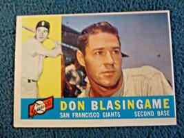 1960 TOPPS DON BLASINGAME EX+MINT  #397 - $2.97