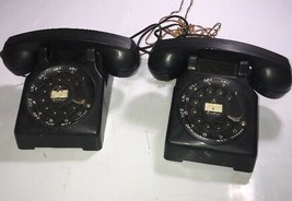 Pair 1960s Brumberger Made in Brookland Toy Rotary Telephones Kids Toy A... - $32.71