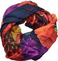 Echo Design Womens Digital Floral Wrap Scarf Black Multi - €54,35 EUR