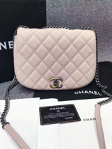 AUTHENTIC CHANEL 2017 PINK QUILTED CAVIAR 2 WAY FLAP BAG NEW image 13