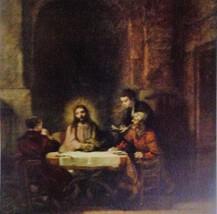Christ At Emmaus(MINI PRINT) by Van Rijn Rembrandt - $55.00