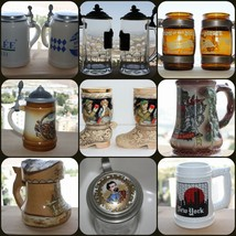 Collectible Beer Stein Mug Tankard Pint Jar Can Drinkware Breweriana and... - $13.99+
