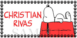 Snoopy Sticker, Personalized and Waterproof Stickers to Label School Sup... - $2.00