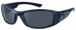 Harley-Davidson Mens Kickstart Sunglasses Shiny Black Dark Grey Lens HDV... - $34.16