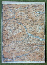 AUSTRIA Alps Raxalpen Semmering Pass - 1911 MAP... - $8.42