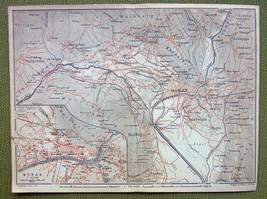 ITALY Meran Merano TOwn Plan - 1911 MAP ORIGINA... - $13.86