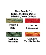 FLOSS BUNDLE Caron Waterlilies 4 skeins Leilani... - $23.75