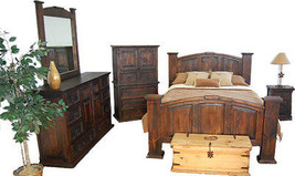 Dark Tone Rustic Bedroom - Real Wood Construction - Western - 5 Piece Set - $2,569.05+
