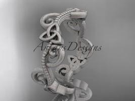 Platinum celtic trinity knot matte finish wedding band CT7138G - $1,075.00