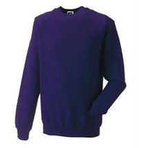 2X PURPLE SWEATSHIRT PLAIN FOR DECORATING GREAT COLOR FOR LADIES OF SOCIETY - $24.74