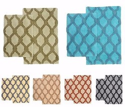 Bibb Home 2 Piece Bath Rug Set Davenport (Chainlink) - 6 Colors! - $29.99