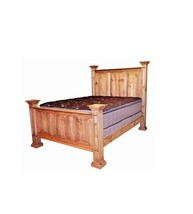 Rustic Oasis Bed King Queen Full Western Real Solid Wood Cabin Lodge Wes... - $1,034.55+