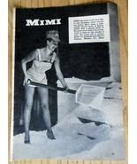 1960 Black & White Print Ad Beacon Plastics Mimi Sexy Lady Shorts Shovel... - $7.50