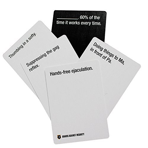 cards against humanity guards insanity naughty expansion edition