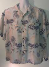 XL Joe Marlin Hawaiian Shirt Rayon with Coconut Buttons - $11.60