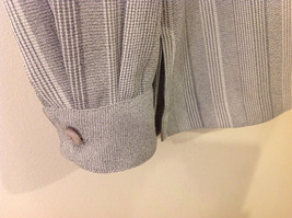Draper & Damon Men's Size L Button-Down Shirt Gray + White Stripes Long Sleeves image 5
