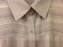 Draper & Damon Men's Size L Button-Down Shirt Gray + White Stripes Long Sleeves image 4
