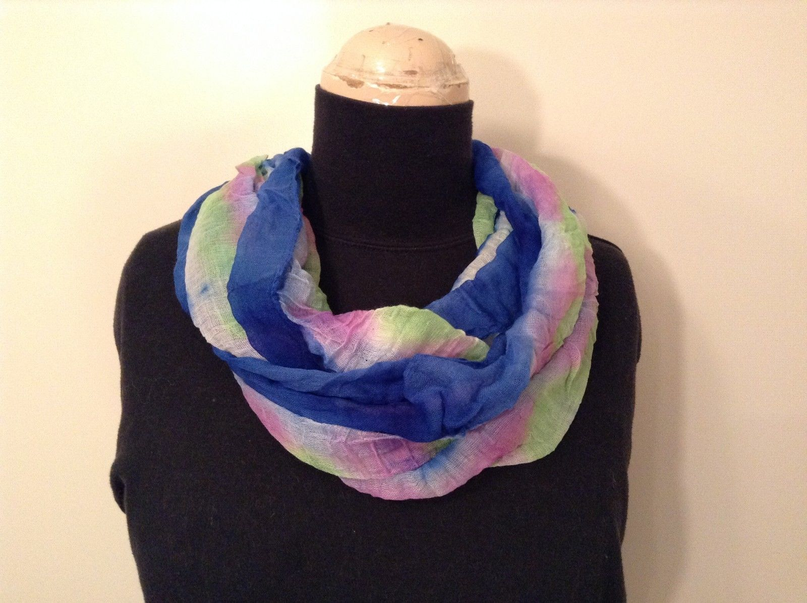 New Tie Dye Infinity Light weight Spring Scarf in Color Choice