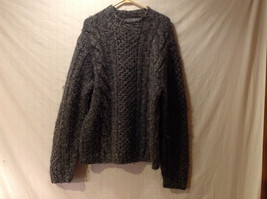 Polo Sport by Ralph Lauren Men's Size L Sweater Gray Cable & Honeycomb Wool Knit