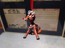 Rudolph Rudy Wrapped in Tinsel Christmas Tree Ornament Resin 50 Year Anniversary image 3