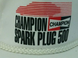 CHAMPION SPARK PLUG 500 Vintage hipster hat with big rope in front hipster racer - $15.47