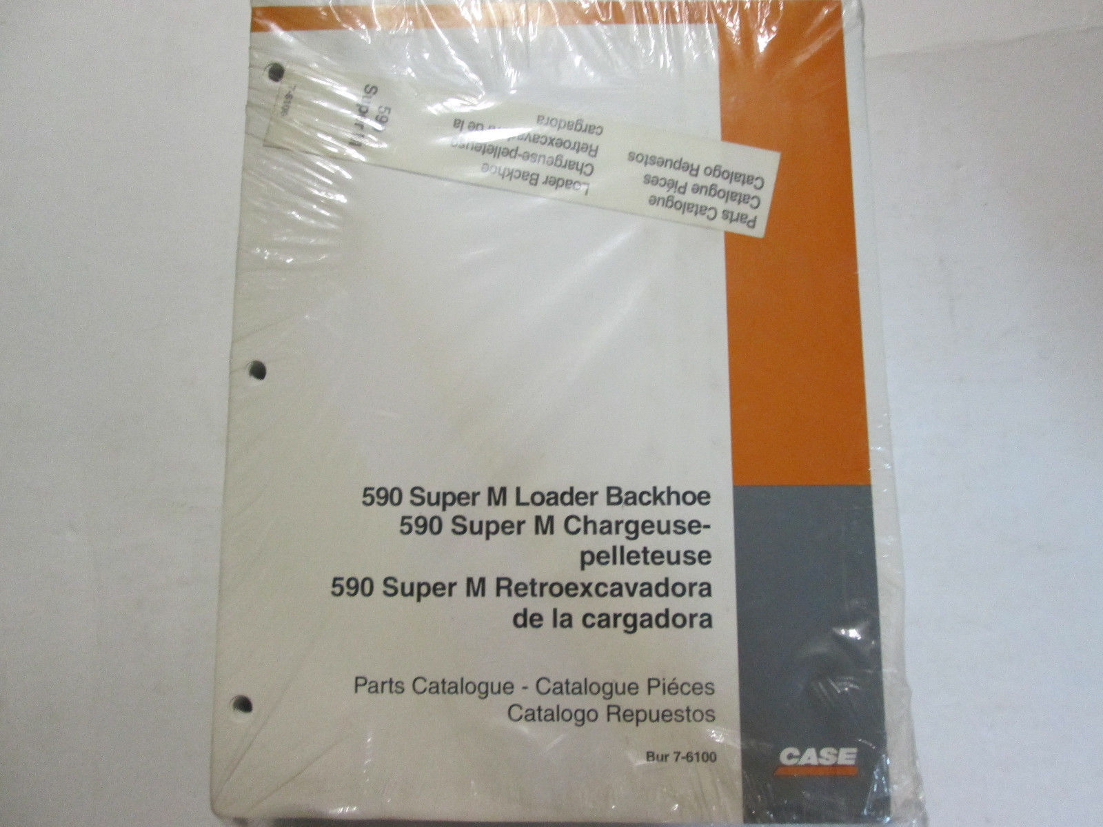 Case 590 Super M Loader Backhoe Parts Catalog Manual Factory OEM Book Loose Leaf