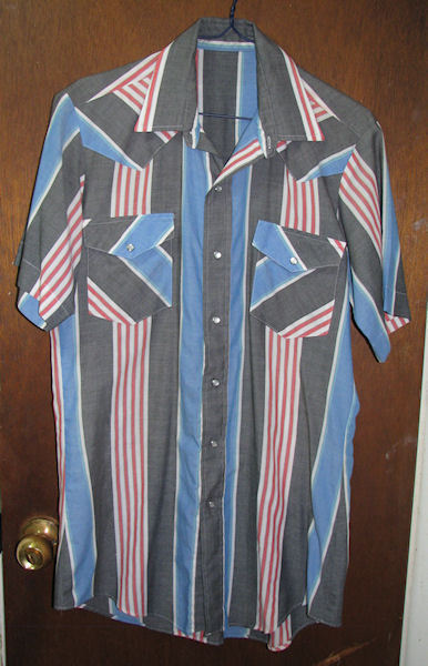 Mens Western Pearl Snap Shirt Sz Small Striped