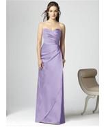 Dessy 2851.....Strapless, Satin, Purple Dreaa....Passion....Sz 12 - $74.24