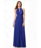 After Six 6696....Bridesmaid, Full Length, Halter Dress.....Sapphire....... - $89.09