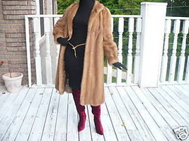 Mint Designer full length light Sable brown color Mink Fur coat jacket - $749.99