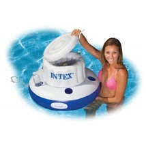 Large Inflatable Cooler Ice Chest With 5 Cup Holders Floats Pool Lake Dr... - $26.50