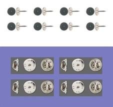 50 Brass Tac TIE TACKS Lapel Scatter Pin  10mm pad + 9mm post + Backs No... - $9.89