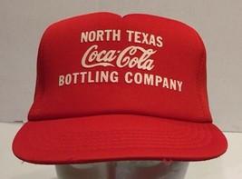 Vtg Coke North Texas Snapback Trucker Hat Cap Red K Products Coca Cola - $30.84