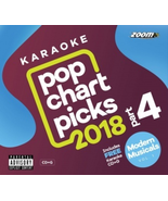 Zoom Karaoke Pop Chart Picks 2018 Part 4 CD+G &Modern Musicals Vol 1 (39... - $16.99