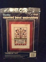 NIP Bucilla Friendship Tree Counted Bead Embroidery 49470 Welcome Friends Kit - $13.09