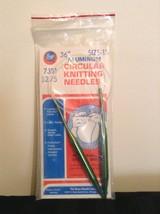 "Boye Aluminum Green Circular Knitting Needles 7351 Size-15 36"" Knit Knit... - $10.07 CAD"